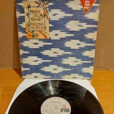 Discos de vinilo: MARIA DEL MAR BONET / CANÇONS DE FESTA / LP-GATEFOLD - ARIOLA-1976 / MBC. ***/***. Lote 225291728