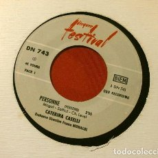 Discos de vinilo: CATERINA CASELLI (SINGLE FESTIVAL FRANCE 1966) (RARO) PERSONNE - LA TIMIDITE (CHANTE EN FRANÇAIS). Lote 225295210
