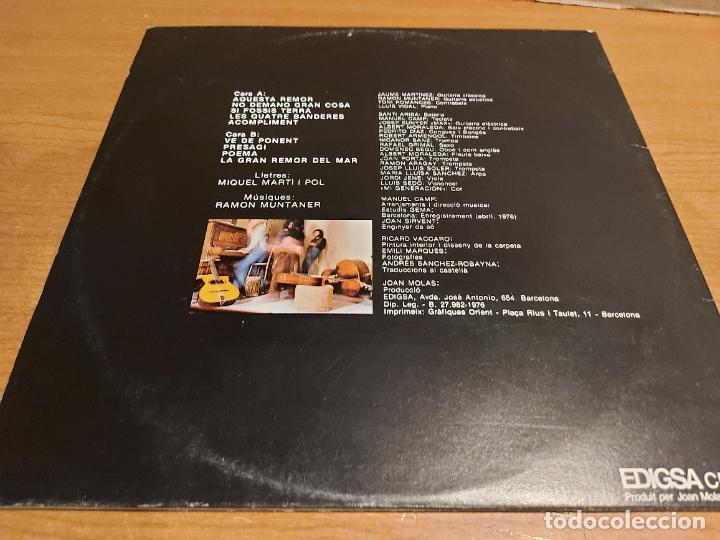Discos de vinilo: RAMON MUNTANER / PRESAGI / MIQUEL MARTI I POL / LP - EDIGSA-1976 / MBC. ***/*** +POSTER - Foto 3 - 225296295