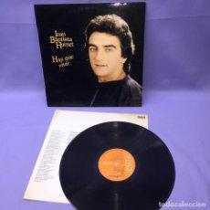 Discos de vinilo: LP JOAN BAPTISTA HUMET -- HAY QUE VIVIR -- 1980 -- MADRID -- VG++. Lote 225298815