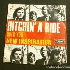 Discos de vinilo: NEW INSPIRATION (SINGLE ED. ALEMANA 1970) HITCHIN' A RIDE - OVER YOU (RARO - DIFICIL) BLACK FELLOWS. Lote 225302625