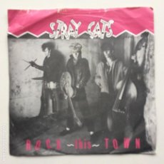 Discos de vinilo: STRAY CATS ‎– ROCK THIS TOWN / CAN'T HURRY LOVE UK,1981. Lote 225315740