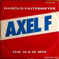 Discos de vinilo: HAROLD FALTERMEYER : AXEL F (THE M&M MIX) [UK 1984] 12'. Lote 225318565