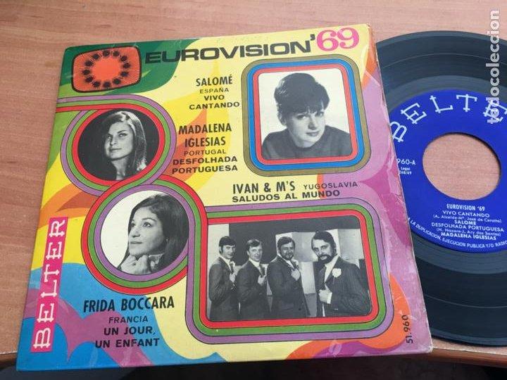 EUROVISION 69 SALOME, MADALENA IGLESIAS FRIDA BOCCARA IVAN & M'S. EP ESPAÑA 1969 (EPI19) (Música - Discos de Vinilo - EPs - Festival de Eurovisión)