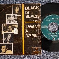 Discos de vinilo: LOS BRAVOS - BLACK IS BLACK / I WANT A NAME. EDITADO POR COLUMBIA. AÑO 1.966. Lote 225355922