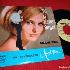 Dischi in vinile: MIGUEL RIOS TU SI TIENES ANGEL/SERENATA BAJO EL SOL 7'' SINGLE 1965 PHILIPS GALLETA AMARILLA. Lote 225359705
