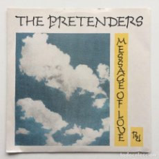Discos de vinilo: THE PRETENDERS – MESSAGE OF LOVE / PORCELAIN UK, 1981. Lote 225367200