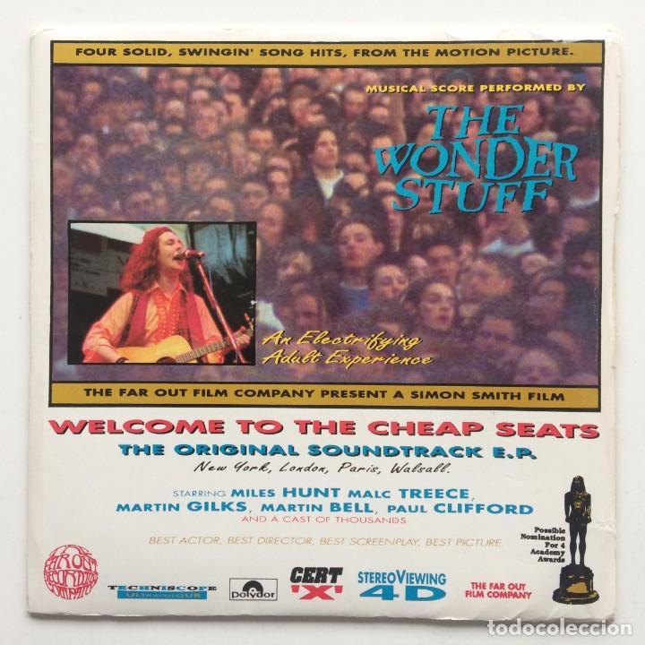 THE WONDER STUFF – WELCOME TO THE CHEAP SEATS THE ORIGINAL SOUNDTRACK E.P. UK & EUROPE,1992 (Música - Discos de Vinilo - EPs - Pop - Rock Extranjero de los 90 a la actualidad)
