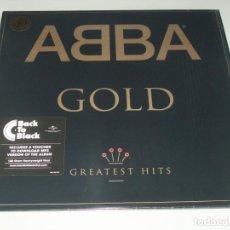 Discos de vinilo: ABBA - ABBA GOLD ...2LP´S CON INSERTOS ORIGINAL DE 1992 - REEDICION DEL 40 ANIVERSARIO - NUEVOS. Lote 225378705