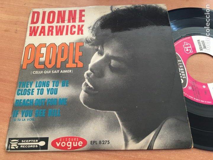 DIONNE WARWICK (PEOPLE +3) EP FRANCIA 1964 (EPI19) (Música - Discos de Vinilo - EPs - Funk, Soul y Black Music)