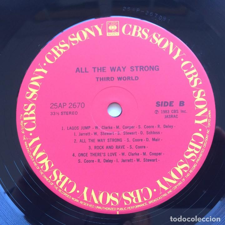 Discos de vinilo: Third World ‎– All The Way Strong Japan,1983 CBS/Sony - Foto 6 - 225388645