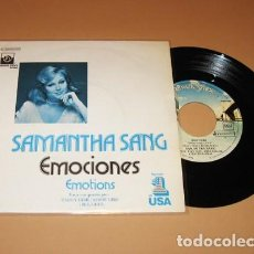 Discos de vinilo: SAMANTHA SANG - EMOCIONES (EMOTIONS) - SINGLE - 1978. Lote 225390876