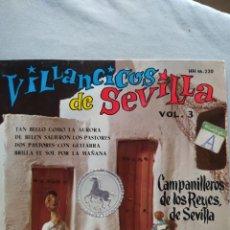 Discos de vinilo: VINILO VILLANCICOS DE SEVILLA VOL. 3-CAMPANILLEROS DE LOS REYES- EP 4 TEMAS - HISPAVOX 1961. Lote 225399565