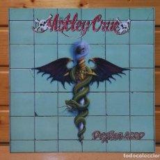 Disques de vinyle: LP ALBUM , MOTLEY CRUE , DR.FEELGOOD , IMPORT.INSERT , ELEKTRA LABEL.. Lote 225414622