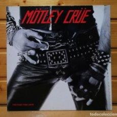 Disques de vinyle: LP ALBUM , MOTLEY CRUE , TOO FAST FOR LOVE , IMPORT.INSERT , ELEKTRA LABEL.. Lote 225414947