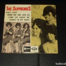 Discos de vinilo: SUPREMES EP BABY LOVE+3. Lote 225506622