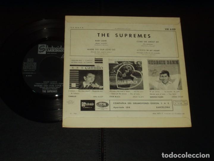 Discos de vinilo: SUPREMES EP BABY LOVE+3 - Foto 2 - 225506622