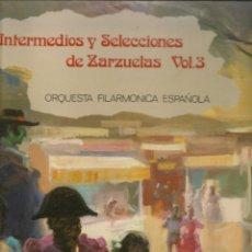 Discos de vinilo: DISCO. LP VINILO. INTERMEDIO Y SELECCIONES DE ZARZUELAS. VOL. 3. OLYMP L 279.(ST/DS6). Lote 225515550