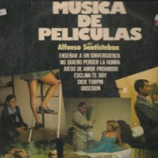 Discos de vinilo: DISCO. LP VINILO. MÚSICA DE PELICULAS DE ALFONSO SANTISTEBAN. DISCOPHON 2282.(ST/DS6). Lote 225516250