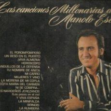 Discos de vinilo: DISCO. LP VINILO. LAS CANCIONES MILLONARIAS DE MANOLO ESCOBAR. 2 DISCOS. BELTER 79.001/2 (ST/DS6). Lote 225517750