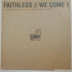 Discos de vinilo: FAITHLESS, WE COME 1, UK 2001, PROMO, CHEEKY RECORDS CHEEKY002A, EXCELENTE ESTADO (EX_EX). Lote 225520265