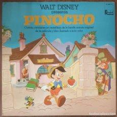 Discos de vinilo: LP WALT DISNEY PRESENTA PINOCHO. Lote 225552080