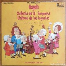 Discos de vinilo: LP WALT DISNEY PRESENTA HAYDN SINFONÍA DE LA SORPRESA SINFONÍA DE LOS JUGUETES. Lote 225552541