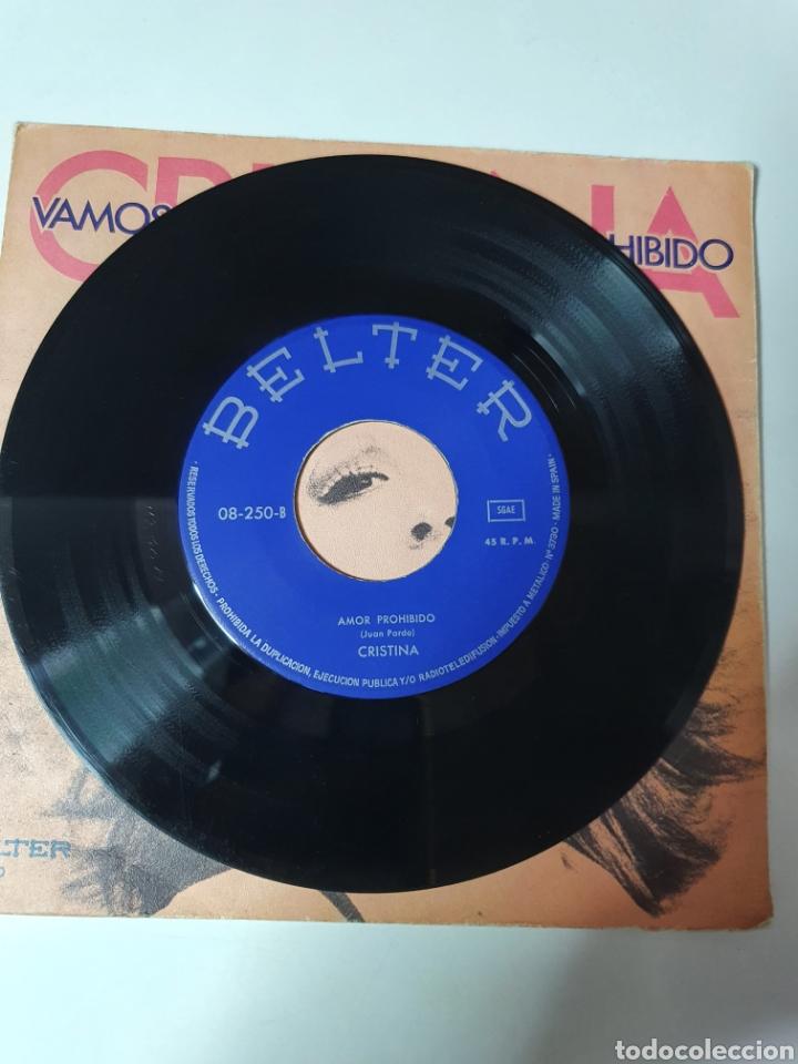 Discos de vinilo: Cristina - Vamos Al Circo / Amor Pohibido, Belter 1973. - Foto 4 - 225588440