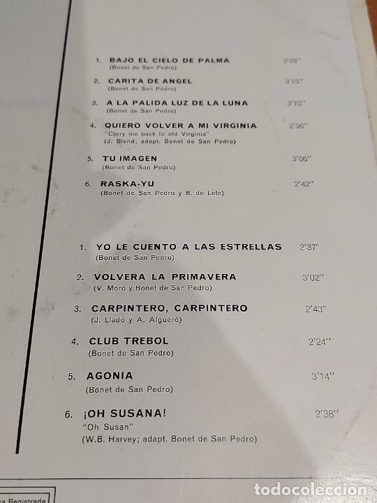 Discos de vinilo: RECORDANDO A BONET DE SAN PEDRO Y LOS 7 DE PALMA / LP - REGAL-1969 / MBC. ***/*** - Foto 3 - 225589150