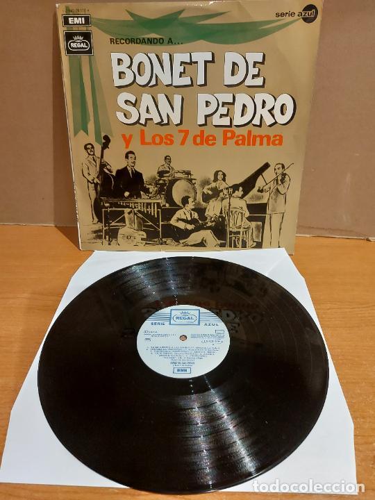 RECORDANDO A BONET DE SAN PEDRO Y LOS 7 DE PALMA / LP - REGAL-1969 / MBC. ***/*** (Música - Discos - LP Vinilo - Grupos Españoles 50 y 60)