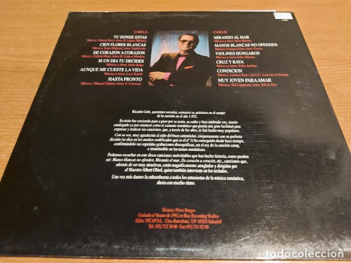 Discos de vinilo: RICARDO GABI Y SU ORQUESTA / DE CORAZÓN A CORAZÓN / LP - PICAP-1992 / MBC. ***/*** DIFÍCIL. - Foto 2 - 225601655