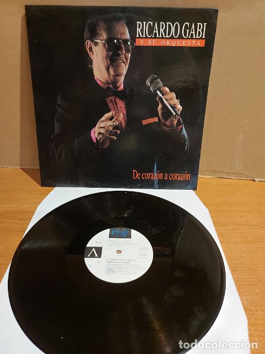 RICARDO GABI Y SU ORQUESTA / DE CORAZÓN A CORAZÓN / LP - PICAP-1992 / MBC. ***/*** DIFÍCIL. (Música - Discos - LP Vinilo - Solistas Españoles de los 70 a la actualidad)