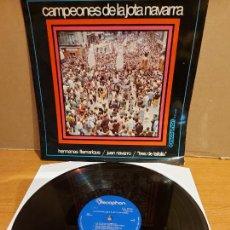 Discos de vinilo: CAMPEONES DE LA JOTA NAVARRA / LP - DISCOPHON-1969 / MBC. ***/***. Lote 225603132