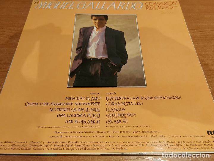 Discos de vinilo: MIGUEL GALLARDO / CORAZÓN VIAJERO / LP-PROMO+LETRAS+CARTA - RCA-1985 / MBC. ***/*** - Foto 4 - 225604925