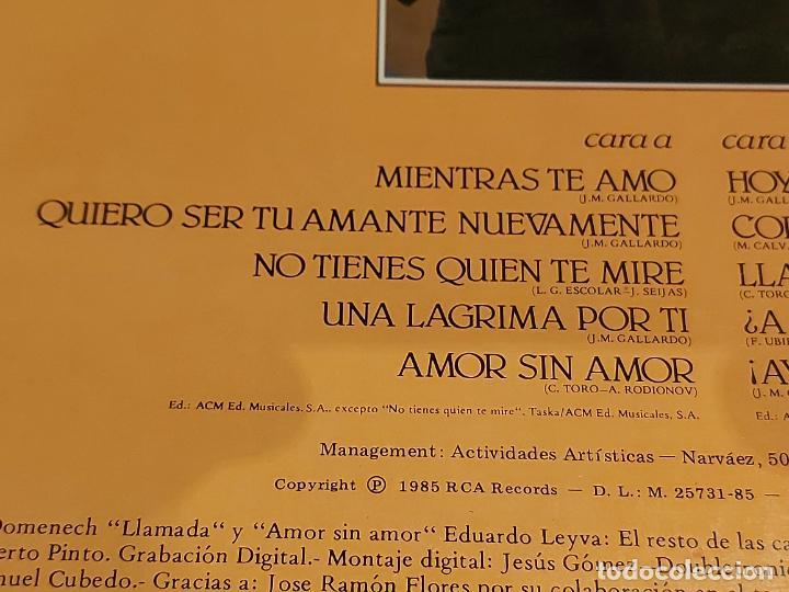 Discos de vinilo: MIGUEL GALLARDO / CORAZÓN VIAJERO / LP-PROMO+LETRAS+CARTA - RCA-1985 / MBC. ***/*** - Foto 5 - 225604925