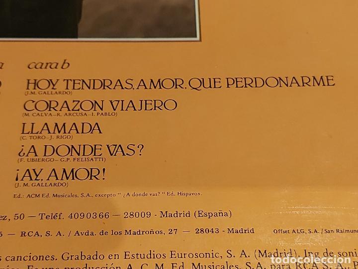 Discos de vinilo: MIGUEL GALLARDO / CORAZÓN VIAJERO / LP-PROMO+LETRAS+CARTA - RCA-1985 / MBC. ***/*** - Foto 6 - 225604925