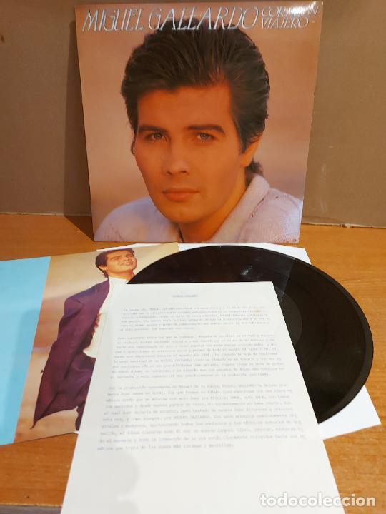 MIGUEL GALLARDO / CORAZÓN VIAJERO / LP-PROMO+LETRAS+CARTA - RCA-1985 / MBC. ***/*** (Música - Discos - LP Vinilo - Solistas Españoles de los 70 a la actualidad)