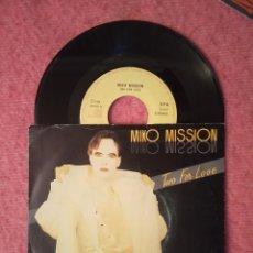 Dischi in vinile: SINGLE MIKO MISSION - TWO FOR LOVE - EMI 2012266 - PORTUGAL PRESS (VG++/NM). Lote 225610075