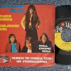 Discos de vinilo: THE SHOCKING BLUE - NEVER MARRY A RAILROAD MAN / ROLL ENGINE ROLL. AÑO 1.970. EDITADO POR RCA. Lote 225637005