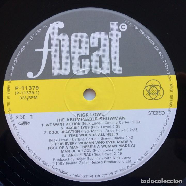 Discos de vinilo: Nick Lowe – The Abominable Showman Japan,1983 F-Beat - Foto 4 - 225711028