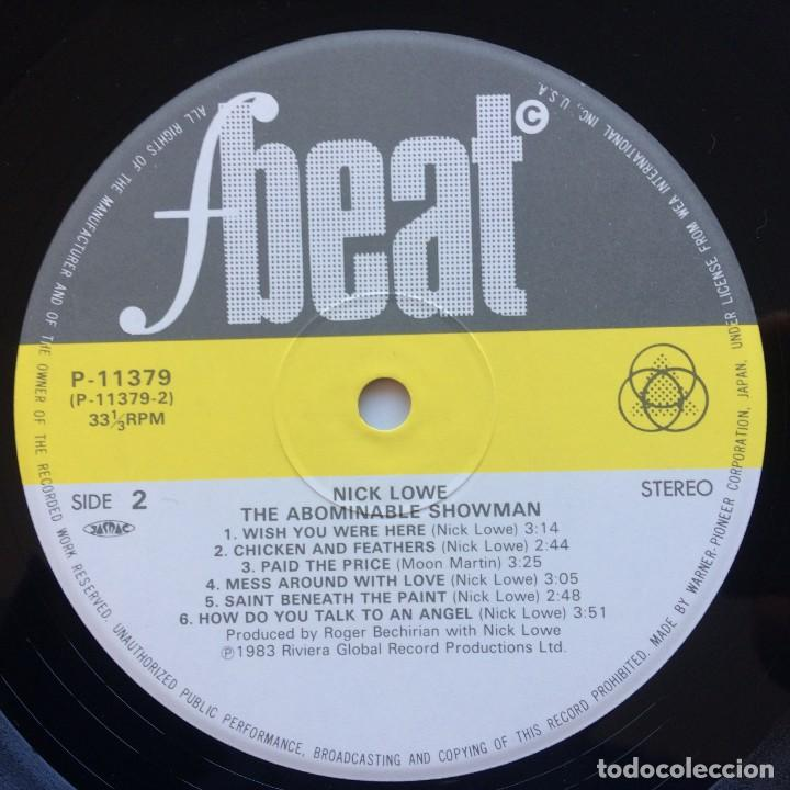 Discos de vinilo: Nick Lowe – The Abominable Showman Japan,1983 F-Beat - Foto 5 - 225711028