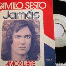 Discos de vinilo: DISCO HECHO EN HOLANDA CAMILO SESTO - JAMÀS - AMOR LIBRE. Lote 225718425
