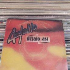 Discos de vinilo: ASFALTO - DEJALO ASÍ. SINGLE VINILO 1981. Lote 225720795