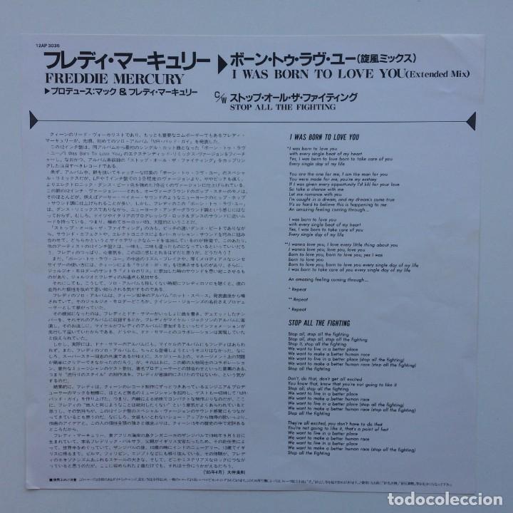 Discos de vinilo: Freddie Mercury – I Was Born To Love You Japan,1985 CBS/Sony - Foto 3 - 225738010