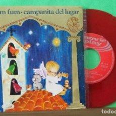Discos de vinilo: VILLANCICOS - FUM FUM FUM - SINGLE ROJO - LIMPIO CON ALCOHOL ISOPROPÍLICO. Lote 225742602