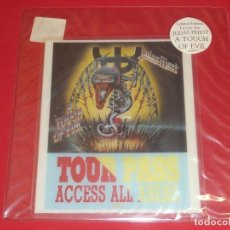 Discos de vinilo: JUDAS PRIEST A TOUCH OF EVIL SHAPED PICTURE DISC. Lote 23868398