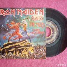 Discos de vinilo: SINGLE IRON MAIDEN - RUN TO THE HILLS - 10C 006-007604 - SPAIN PRESS PROMO (VG++/NM). Lote 225795095