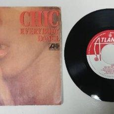"Discos de vinil: 1120- CHIC EVERYBODY DANCE - VIN 7"" POR G+ DIS VG+ PROMO. Lote 225797830"