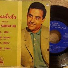 Discos de vinilo: JOSÉ GUARDIOLA EXITOS DE SANREMO 1962. Lote 225823488