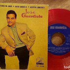 Discos de vinilo: JOSÉ GUARDIOLA - VERDE CAMPIÑA - TIENES MI AMOR - BIKINI AMARILLO - NUESTRO CONCIERTO. Lote 225823960
